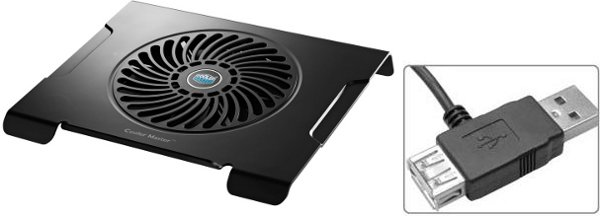 NOTEBOOK COOLING PAD COOLERMASTER Notepal CMC3 con VENTOLA 200mm + HUB USB